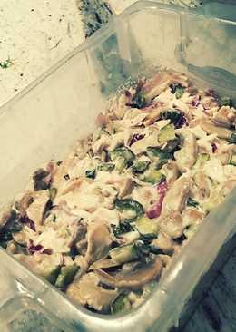Салат из маринованных шампиньонов и огурцов#чемпионатмира#россия