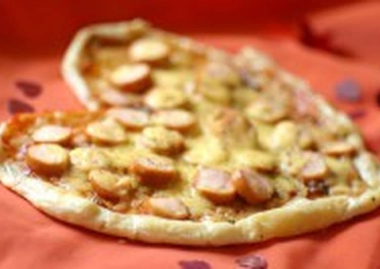 Пицца с сосисками «Сердце»