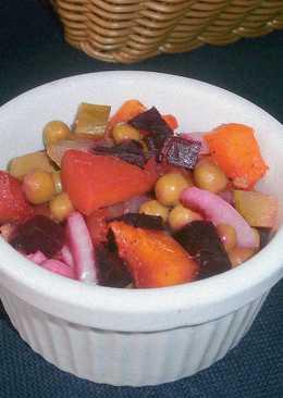 Овощной салат с тыквой в виде винегрета