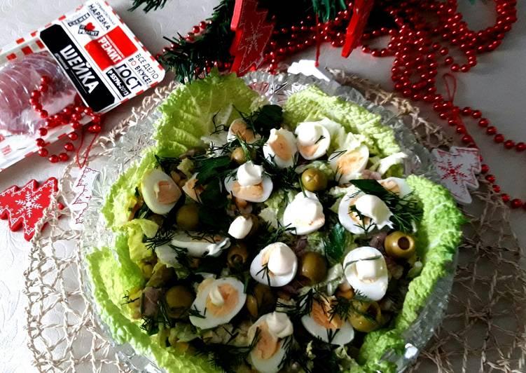 """Салат """"Новогоднее гнёздышко"""""""