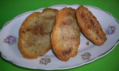 Вкусные гренки-сухарики с корицей