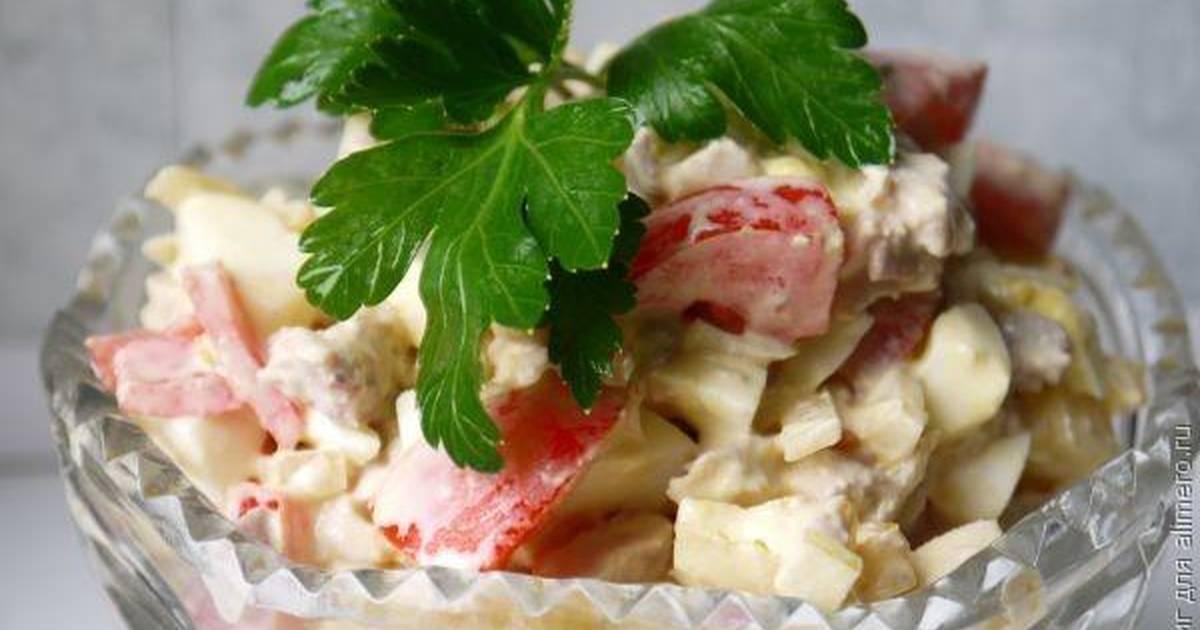 салат из вареного мяса свинины есть быть уверенным