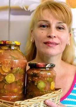 Грузинский салат из огурцов на зиму простой вкусный рецепт заготовки и консервации