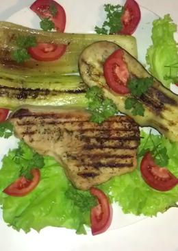 Индейка гриль с овощами