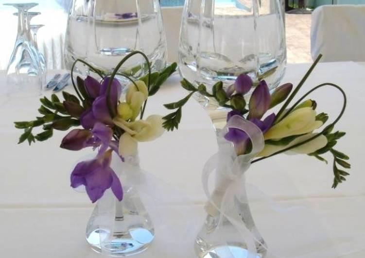 Оформление бокалов на праздничный стол