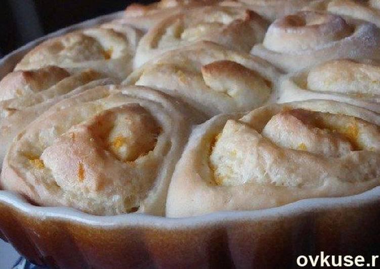 воздушные апельсиновые булочки рецепт с фото