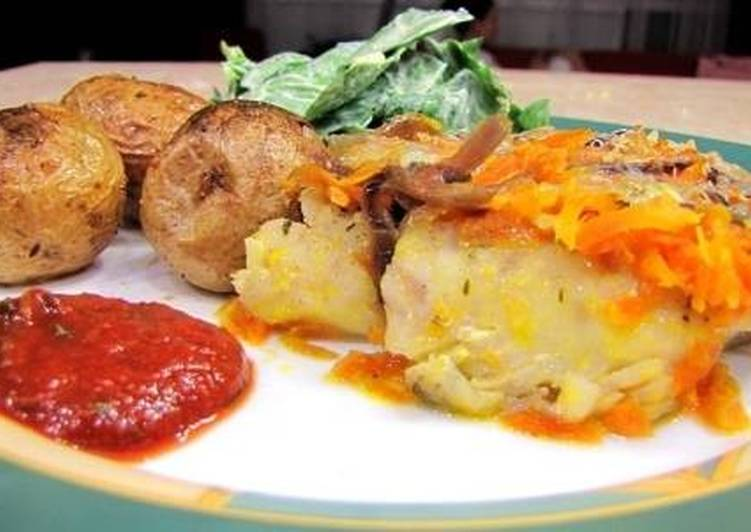 Рыба под овощной «шубой»