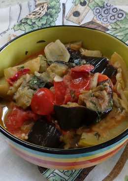 Соте с баклажанами (овощное рагу)