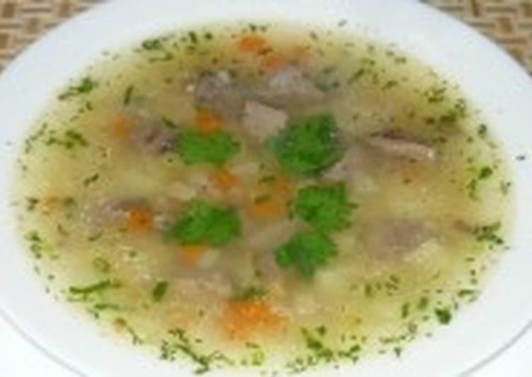 Суп с потрошками и грибами