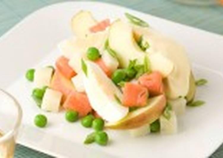 Салат с копченой рыбой (3)