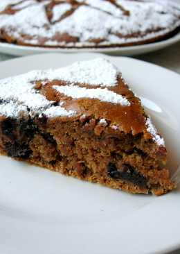 Постный пирог с кофе