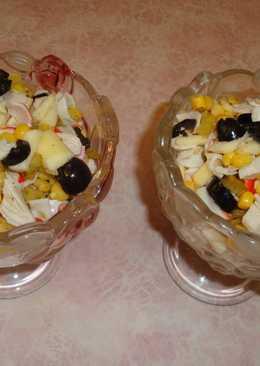 Крабовый салат в пост