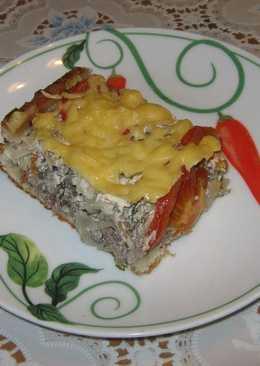 Сочный мясной пирог из слоеного теста с фаршем