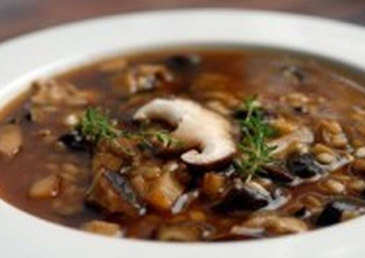 Овсяно-грибной суп