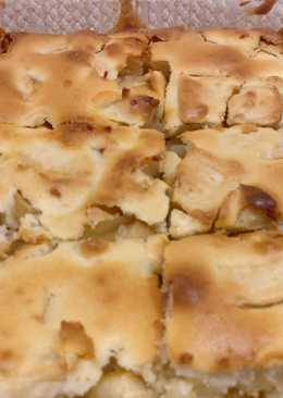 "Пирог ""Неженка"" с яблоками. Тесто на кефире!"