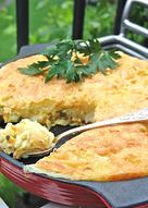 Рыбная запеканка с картофелем и лимонными стружками