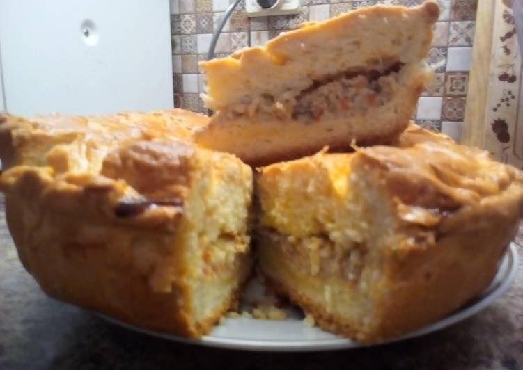 Пирог с начинкой из лососевых молок