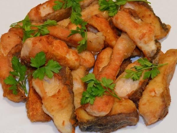 Жаренный толстолобик / Отличный способ для жарки любой крупной рыбы