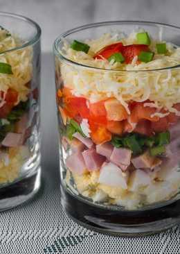 Салат фаворит - Новогодний салат в стакане за 5 минут