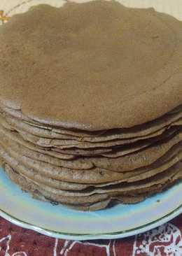Тонкие шоколадно-кокосовые блинчики