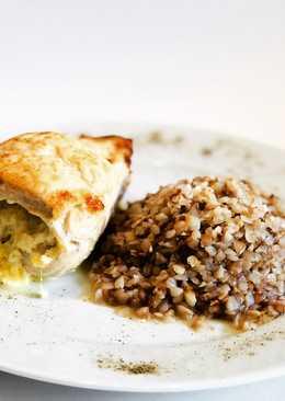 Отбивная куриная грудка с сыром, творогом, чесноком, да под гречечку....ммммм...Для похудения 👍