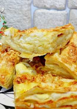 Пирог из лаваша с сыром на завтрак