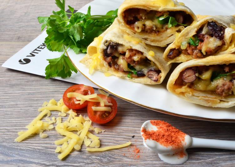 Сочное мясное Буррито с фасолью