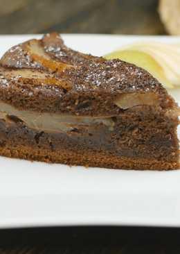 Шоколадный пирог с грушами в мультиварке