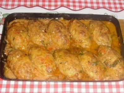 Ленивые голубцы в сметанно-томатном соусе