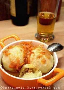 Чешские картофельные кнедлики с копченым мясом
