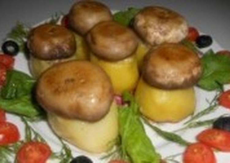 Картофельно-грибная новогодняя закуска