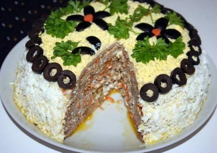 Торт из свиной печеночный