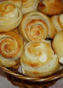Бесподобно вкусные булочкис нежным кремом. Французские булочки