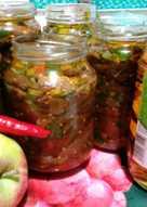 Квашенные баклажаны с яблочным уксусом