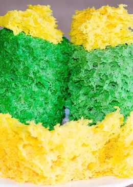 Бисквитный мох для декора - молекулярный бисквит