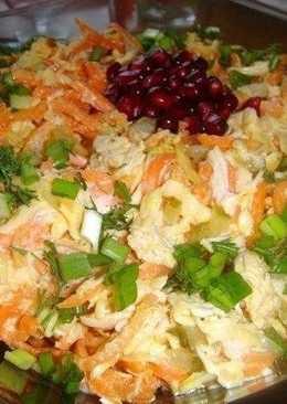 Салат «Лисичка» 130 ккал/100 гр