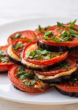 Закуска из баклажанов, помидоров и сыра в духовке