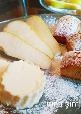 Французский десерт - медовые финансье с творожным суфле #чемпионатмира #франция