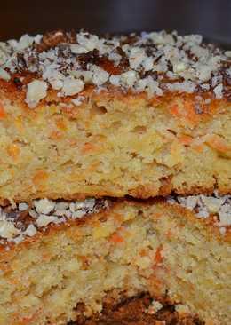 Яблочно-морковный пирог - постный