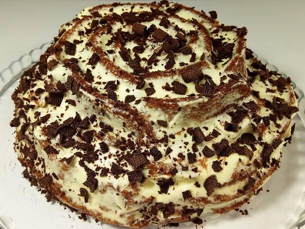 Торт за 15 минут вместе с выпечкой#чемпионатмира#франция
