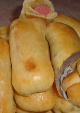 Колбаска с Сыром в Тесте и Пирожки, испеченные в духовке