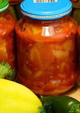 Улётный салат на зиму из кабачков, помидоров и болгарского перца #Заготовки