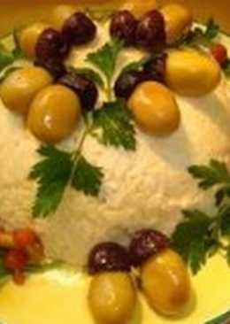 Салат новогодний с сардинами «Желудь»