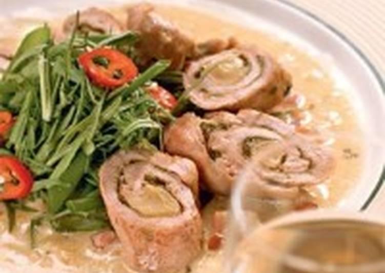 Закуска из свинины «Рулетики по-итальянски»