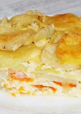 Нежнейшая запеканка с рыбой, картофелем в яичной заливке