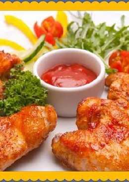 Куриные крылышки в обалденном соусе для Новогоднего стола!