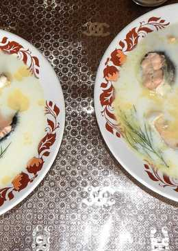 Молочный суп из горбуши