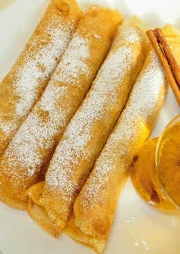 Восхитительные блины(блинчики) на кефире с яблочной начинкой! самый удачный рецепт на масленицу 2018