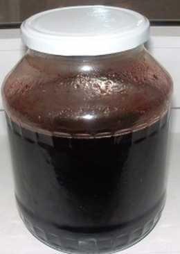 Вишня и черноплодная рябина в сиропе