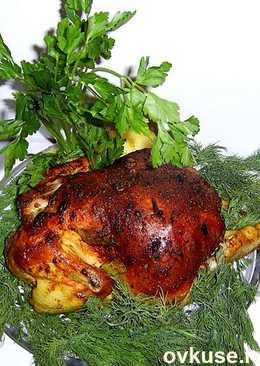 Курочка запечёная в духовке с овощами